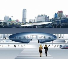 渋谷駅パース(資料:安藤忠雄建築研究所)